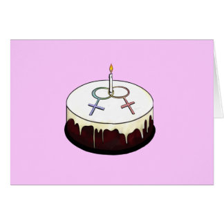 Lesbian Birthday Cake Greeting Card