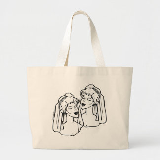 Lesbian Brides Gay Marriage Tote Bag