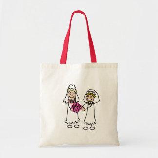 Lesbian Brides In Love Canvas Bag