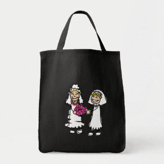 Lesbian Brides In Love Grocery Tote Bag
