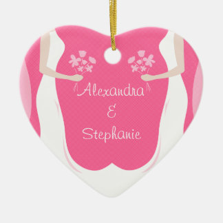 Lesbian Brides Personalized Christmas Ornament