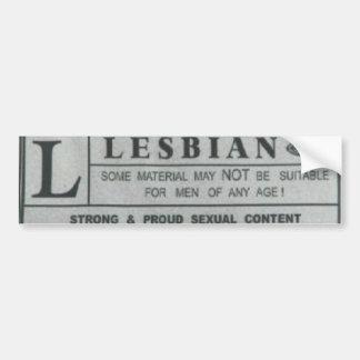lesbian bumper sticker