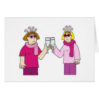 Lesbian congratulations. card