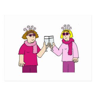Lesbian congratulations. postcard