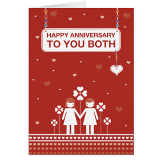 Lesbian Couple | Happy Anniversary Card