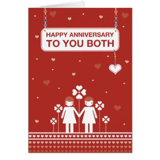 Lesbian Couple | Happy Anniversary Card
