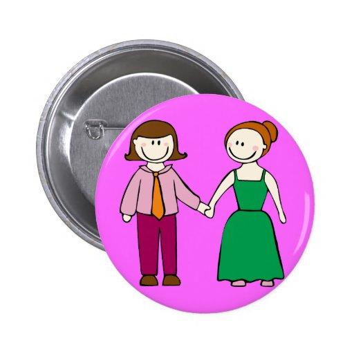 Lesbian Couple Pinback Buttons