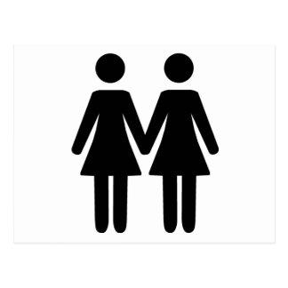 Lesbian Couple Postcard