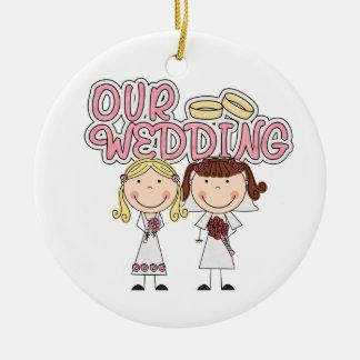 Lesbian First Christmas Ornament
