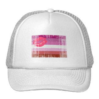 LESBIAN FLAG DISTRESSED HATS