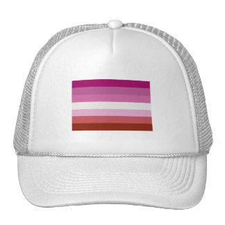 LESBIAN FLAG STRIPES MESH HAT
