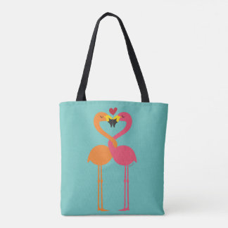 Lesbian Flamingos in Love and Intertwined Tote Bag