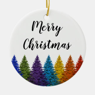 Lesbian Gay Pride Rainbow Flag Christmas Tree Christmas Ornament
