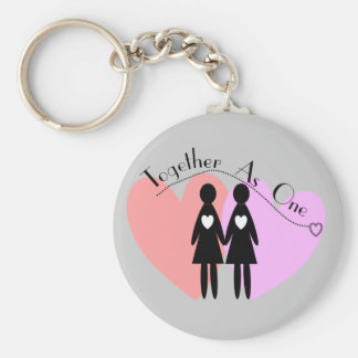 "Lesbian Gifts ""Together As One"" Keychains"
