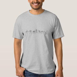 Lesbian in Sign Language Tee Shirt