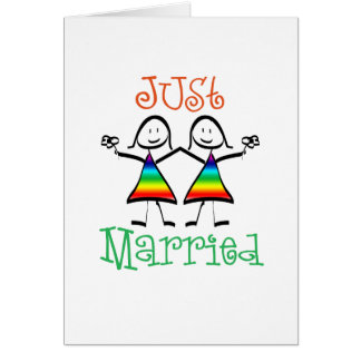 Lesbian Just Married Card