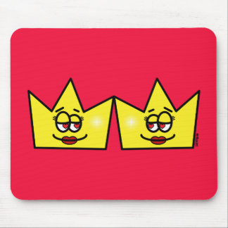 Lesbian Lesbian Queen Queen Crown Coroa Mouse Pad