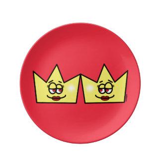 Lesbian Lesbian Queen Queen Crown Coroa Plate