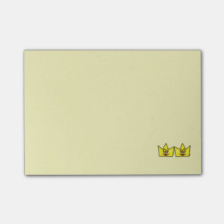 Lesbian Lesbian Queen Queen Crown Coroa Post-it Notes