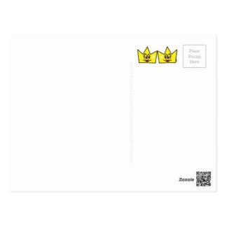Lesbian Lesbian Queen Queen Crown Coroa Postcard