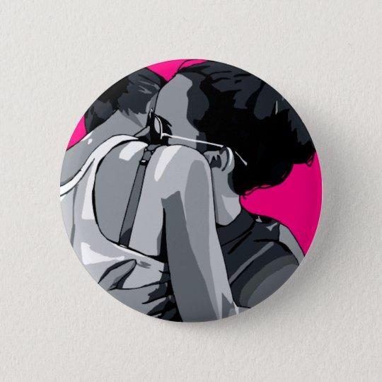 lesbian love 6 cm round badge