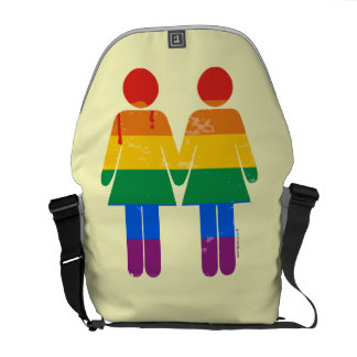 LESBIAN LOVE AND PRIDE MESSENGER BAGS