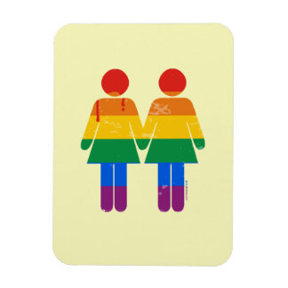 LESBIAN LOVE AND PRIDE RECTANGULAR MAGNETS