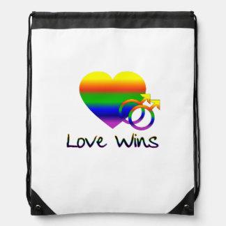 Lesbian Love Wins Drawstring Bag