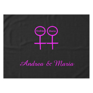 Lesbian Lovers Customizable Tablecloth