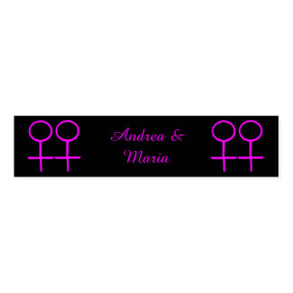 Lesbian Lovers Personalized Napkin Bands