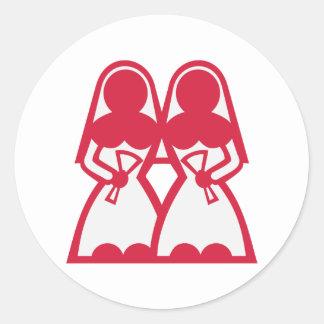 Lesbian Marriage Round Sticker
