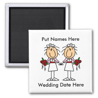 Lesbian Marriage To Customize Refrigerator Magnets
