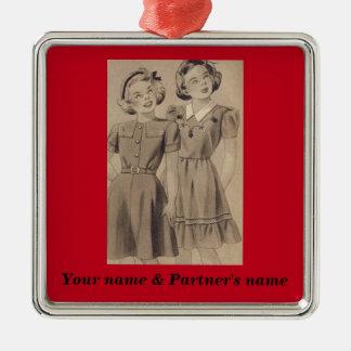 Lesbian Ornament - Customize both names