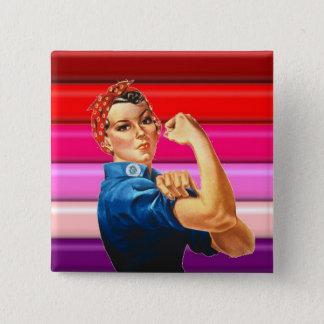 Lesbian Pride 15 Cm Square Badge
