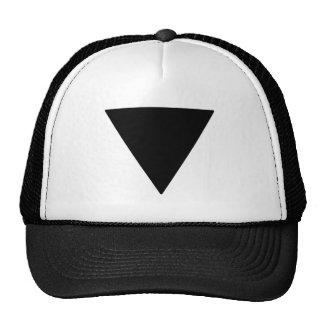 Lesbian Pride Black Triangle Cap