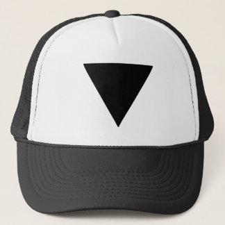 Lesbian Pride Black Triangle Trucker Hat