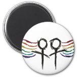 Lesbian Pride Female Symbol 6 Cm Round Magnet