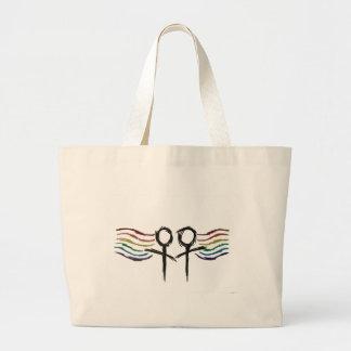 Lesbian Pride Female Symbol Jumbo Tote Bag