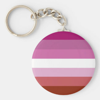 Lesbian pride flag key ring