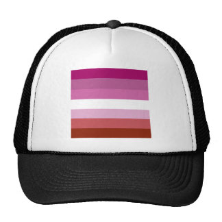 Lesbian pride flag mesh hats