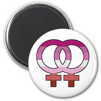 Lesbian Pride Flag Venus Symbol Magnet