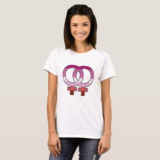 Lesbian Pride Flag Venus Symbol T-Shirt