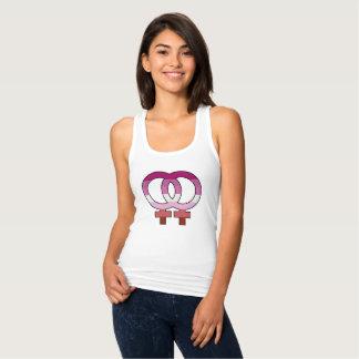 Lesbian Pride Flag Venus Symbol Tank Top