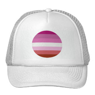 LESBIAN PRIDE STRIPES TRUCKER HATS