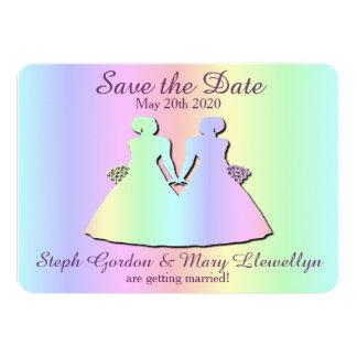 Lesbian Pride Wedding Save the Date Card 11 Cm X 16 Cm Invitation Card