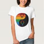 Lesbian Pride Yin and Yang Shirts