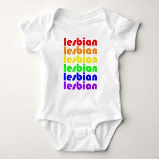 Lesbian Rainbow Baby Bodysuit