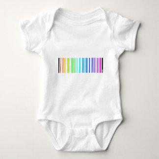Lesbian Rainbow Barcode Baby Bodysuit