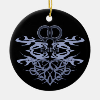 Lesbian Tribal Heart Custom Ornaments