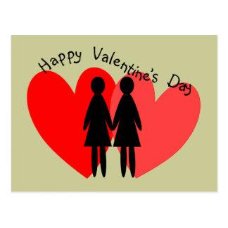 Lesbian Valentine Cards & Gifts Postcard